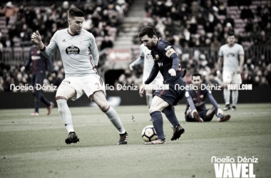 Lionel Messi en el partidoante el Celta de Vigo