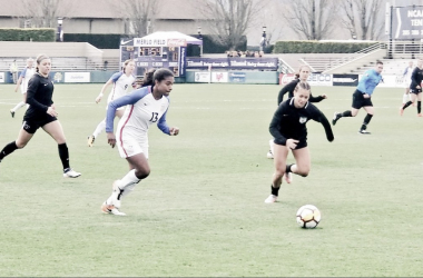 Catarina Macario scored the lone goal of the match for the U-23 USWNT in their win over the Chicago Red Stars. | Photo: @richardfarley