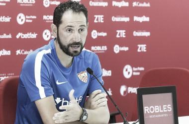 Pablo Machín en rueda de prensa | Foto Sevilla FC