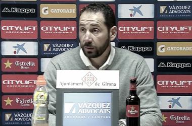 Pablo Machín en la rueda de prensa después del partido frente al Rayo VallecanoFoto: LaLiga 1|2|3
