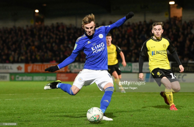 James Maddison attempting to score in Leicester City's last meeting with Burton Albion | Credit: Michael Regan | Getty Images