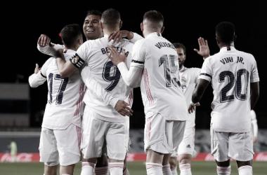 Alegría blanca // Foto: Real Madrid