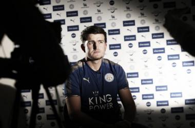 Maguire en su primera entrevista para LCFC TV. Foto: Leicester City.