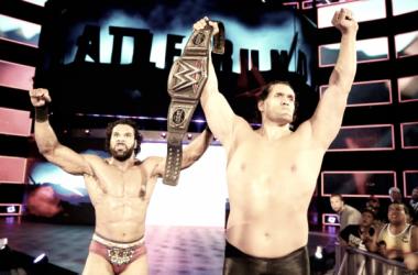 Khali helped Jinder Mahal retain at WWE Battleground (image: wwe)
