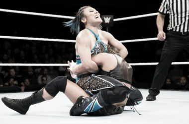 Mia Yim and Sarah Logan main event episode two. Photo-WWE.com