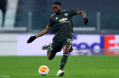 Aaron Wan-Bissaka in action against Real Sociedad | Photo by Sportinfoto/DeFodi Images via Getty Images