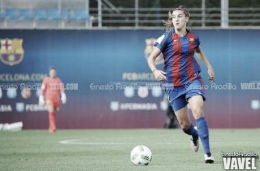 Maite Oroz con la camiseta del Barcelona | Foto: Ernesto Aradilla - VAVEL