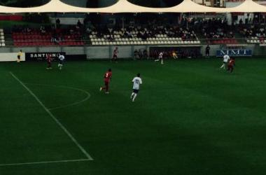 El Rayo Majadahonda jugó su último partido de pretemporada contra el Atlético de Madrid B, (Foto: Twitter Rayo Majadahonda - @RMajadahonda)