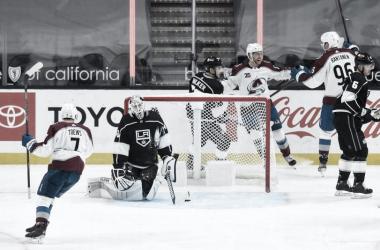 Colorado ganó ambos partidos en la casa de los Kings. NHL.com.