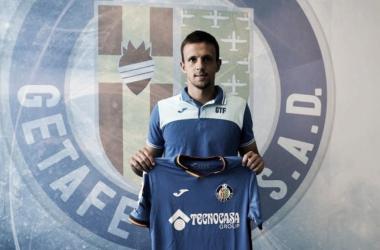Maksimovic ha sido presentado como jugador del Getafe. | Foto: Getafe CF