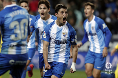 Ricca celebrando el gol de la victoria (LaLiga)