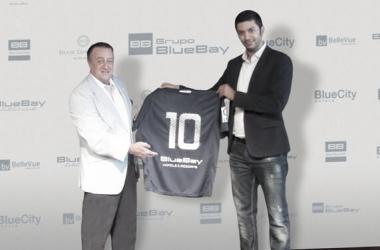 Presentación de patrocinio BlueBay. Fuente: MálagaHoy