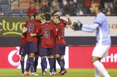 El Málaga se despide de la Copa tras empatar en El Sadar