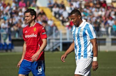 Postiga y Baptista en el Málaga-Zaragoza de la 2012/13 | LaLiga