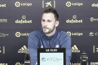 Filip Malbasic en rueda de prensa // Canal de Youtube del Cádiz CF