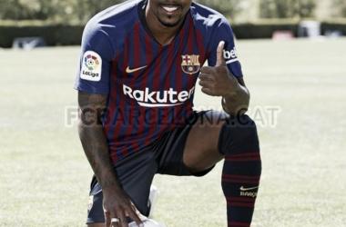 Presentación de Malcom con el FC Barcelona en Portland
