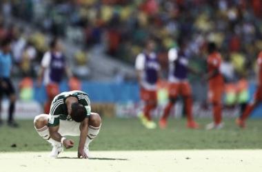 Hernández lamentando la eliminación de Brasil 2014 | Foto: FIFA