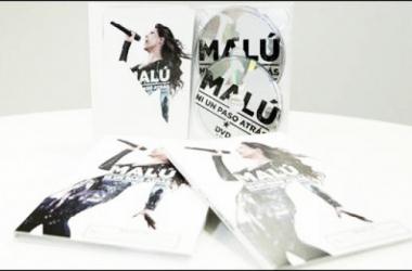 "Carátula de ""Malú. Ni Un Paso Atrás"" DVD+CD. (Foto (sin efecto): Sony Music)."