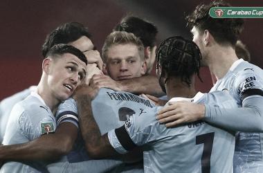 El City se verá las caras en la final con el Tottenham tras llevarse el derbi