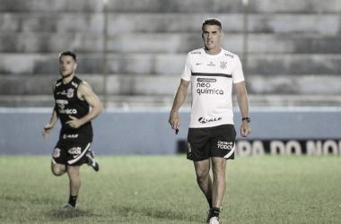 Vagner Mancini em treino antes de Salgueiro x Corinthians (SC Corinthians Paulista / Divulgação)