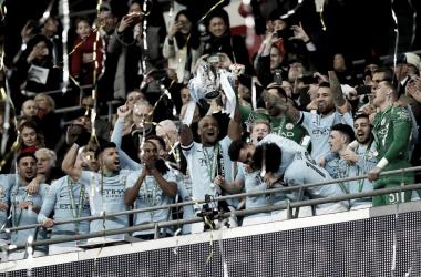 Manchester City, primo trofeo inglese per Guardiola   www.twitter.com (@ManCity)