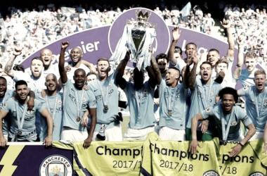 Los citizens llegaron a los 100 puntos en la Premier. | Foto: Prensa Manchester City.