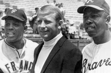 Willie Mays, Mickey Mantle, and Hank Aaron were three of the greatest talents in baseball. Just imagine if they were all in the same lineup. (AP)