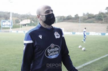 Manuel Pablo en uno de los entrenamientos del Fabril la temporada pasada | Foto: RC Deportivo