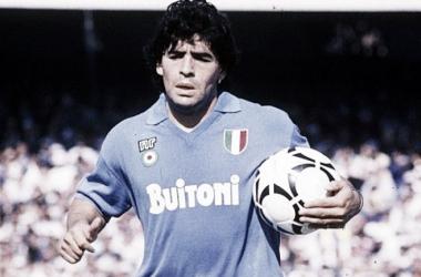 Maradona en el Napoli. (Foto: web)