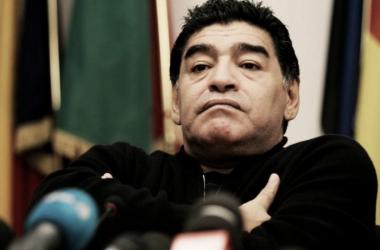 Maradona en conferencia de prensa. (Foto: Olé)