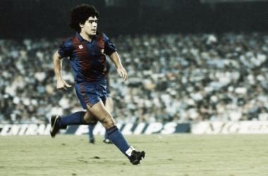 La máxima goleada, el 7-2 de la temporada 82-83 con hat-trick de Maradona