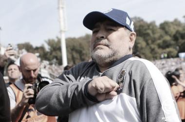 """SE GANÓ EL CARIÑO. Maradona se ganó el respeto y admiración del pueblo """"Tripero"""". Foto: Web"""