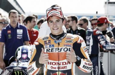 Marc Márquez saldrá mañana desde la segunda posición de la parrilla de salida // FOTO: Repsol Honda Team