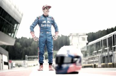 Marc Márquez pilota un Fórmula 1 en Austria. Foto: Twitter Marc Márquez