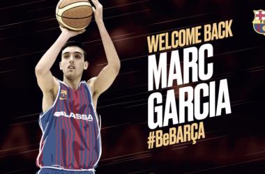 Marc Garcia regresa al FC Barcelona Lassa