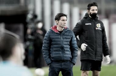 Marcelino García Toral observa a los suyos / Foto: Athletic Club
