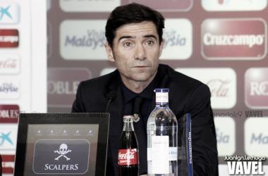 """Marcelino:"""" Espero un partido intenso. Tendremos que defender muy bien"""""""