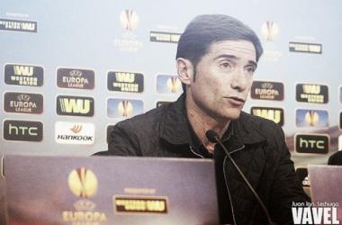 """Marcelino: """"Estamos convencidos de que podemos ganar"""""""