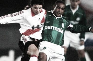 Antecedente. En 1999, Gallardo enfrentaba a Palmeiras como jugador. Foto: Web.