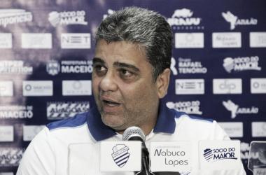 Marcelo Cabo em entrevista coletiva (Foto: Gustavo Henrique/CSA)