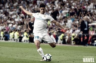 Marco Asensio tiene reserva de gol en el Bernabéu