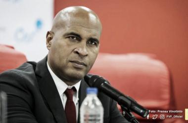 """Marcos Mathias: """"El fútbol se basa en eficiencia, en poder anotar y no solo jugar bien / Foto: FVF"""