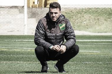 Mariano Soso en un entrenamiento de Defensa y Justicia. Foto: Club Defensa y Justicia.