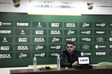 Mariano Soso analizó el empate frente a Banfield. Foto: Club Defensa y Justicia