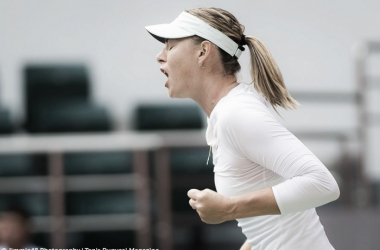 Sharapova's fighting spirit was evident in Tianjin today | Photo: Jimmie48 Tennis Photography