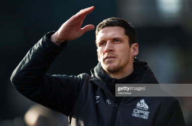 Caretaker manager Mark Hudson is looking to get Huddersfield's first win of the season when they travel to Luton. Photo by Visionhaus/Getty Images.