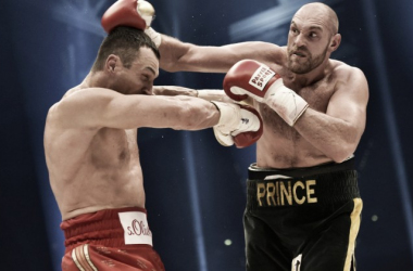 Fury (right) and Klitschko (left),  Photo Credit: Martin Meissner, AP Photo