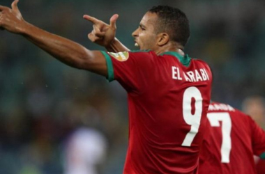 El Arabi celebra su gol. (Foto: Terra.)