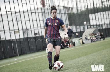 Jugadoras del Barça celebrando un gol| Foto de Noelia Déniz, VAVEL