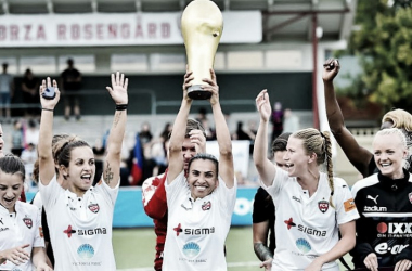 Marta celebra conquista no clube sueco (Foto:Christian Örnberg / BILDBYRÅN)
